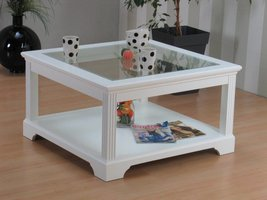 Charlot salontafel vierkant wit 85x85 cm