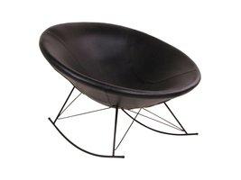 Norrut Kira schommelstoel rond kunstleder zwart