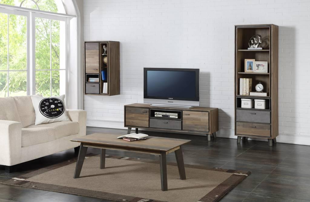 Solliden marla tv meubel met deurtjes en lade acaciahout