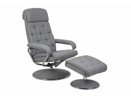 FYN Decan fauteuil met hocker lichtgrijs