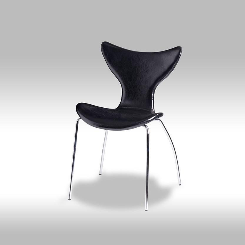 Solliden Ally eetkamerstoel zwart - set van 4 stoelen