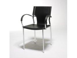 Solliden Juma eetkamerstoel met armleuningen zwart - set van 4 stoelen