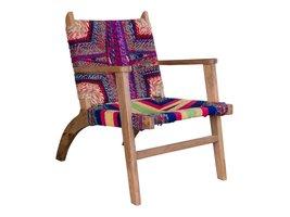 Norrut Sams stoel  in mangohout en katoen in diverse kleuren