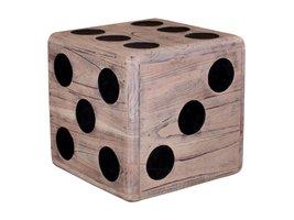 Norrut Coos hocker in mindihout kubusvorm