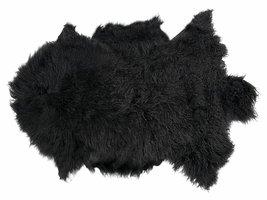 Tibe lamsvel 70x110 cm zwart uit Tibet