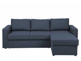 FYN Sissel bedbank met chaise longue stof donkerblauw