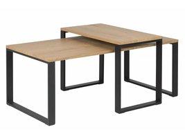 FYN Kamma set van 2 rechthoekige salontafels eiken
