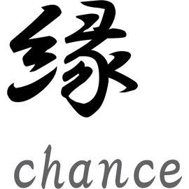 """Japanse tekens \""""Chance\"""""""