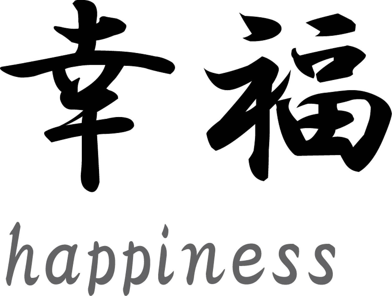 Japanse tekens u0026quot;Happinessu0026quot; - Muurstickers en muurteksten van ...