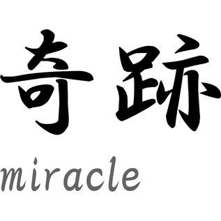 "Japanse tekens \""Miracle"