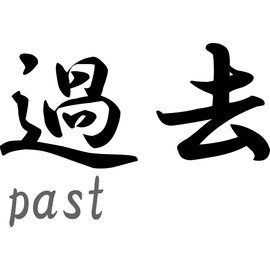 "Japanse teken \""Past\"""