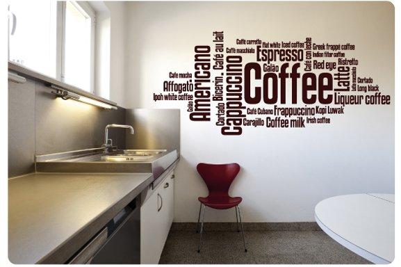 Keukendecoratie muurstickers en muurteksten van sweeties