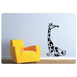 Muurteksten.nl Muursticker Giraffe