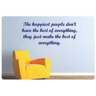 Muurteksten.nl Muurtekst The happiest people