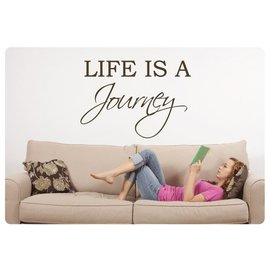 Muurteksten.nl Muurtekst Life is a Journey
