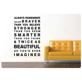 Muurteksten.nl Muurtekst Always remember