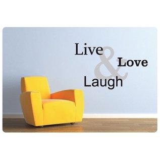 Muurteksten.nl Muurtekst Live, Love, Laugh