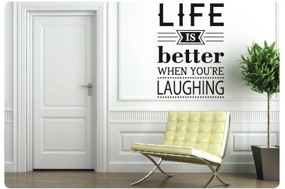 Muurtekst Life is better when - Muurstickers en muurteksten van ...