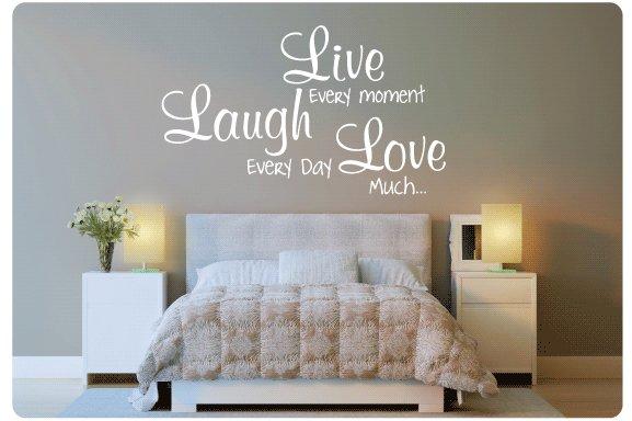 Muurtekst Live every moment - Muurstickers en muurteksten van ...