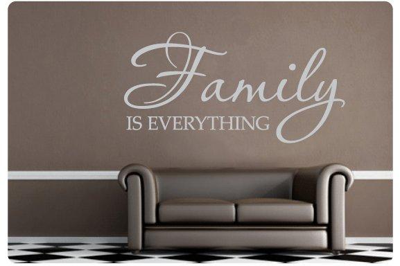 Muurtekst Family is everything - Muurstickers en muurteksten van ...