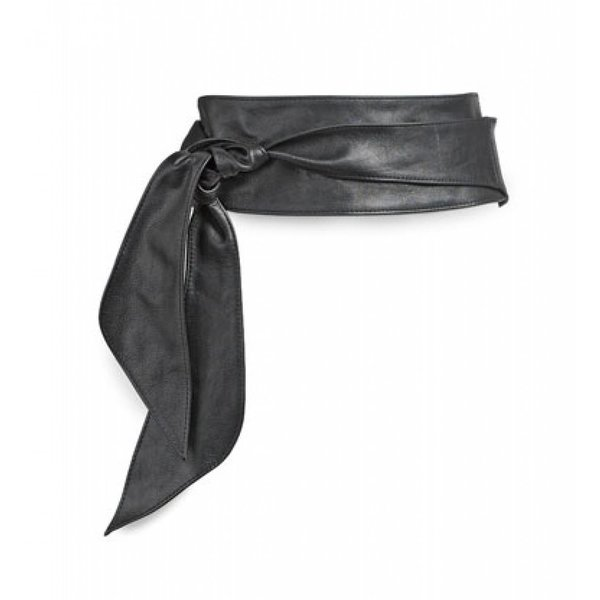 7002.3601 - Zwarte nappa riem met lus (knoopriem)
