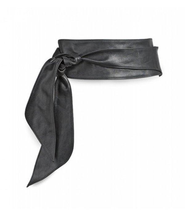 Xworks 7002.3601 - Zwarte nappa riem met lus (knoopriem)