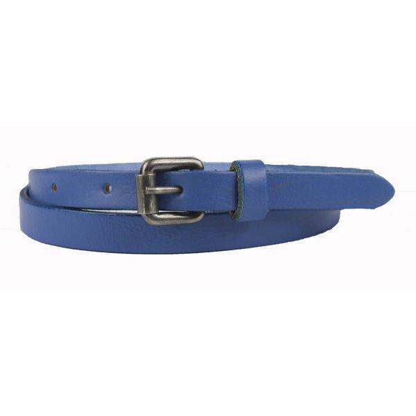 Trendy smalle blauwe riem