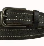 LI8695 - Vintage riem met spijkerkopjes