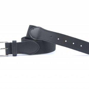 Elastische riem, aan de voorkant voorzien van een stuk leer de rest van de riem is elastisch.