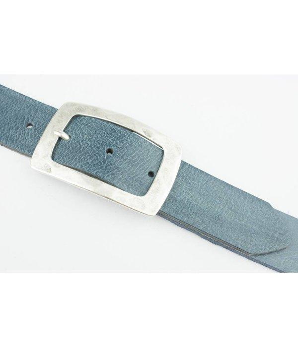 Deero Prachtige Jeansblauwe riem (Fairtrade)