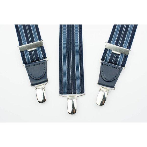 Blauw gestreepte Bretels