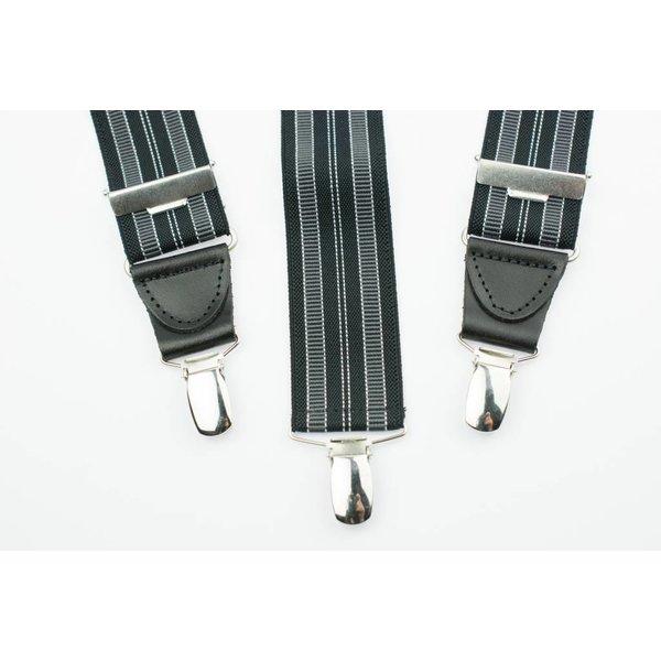 Zwart gestreepte Bretels