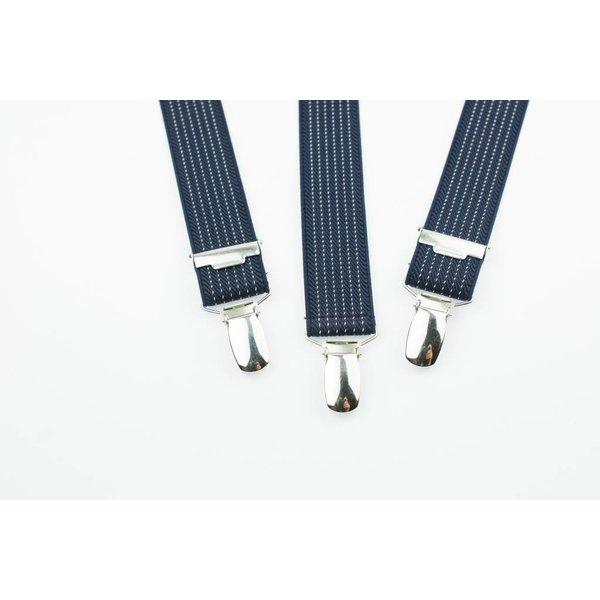 Blauwe gespikkelde Bretels