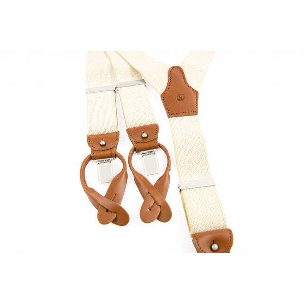 Luxe Beige Vintage Bretels
