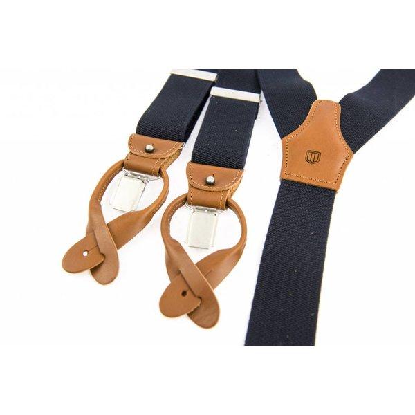 Luxe Donkerblauwe Vintage Bretels