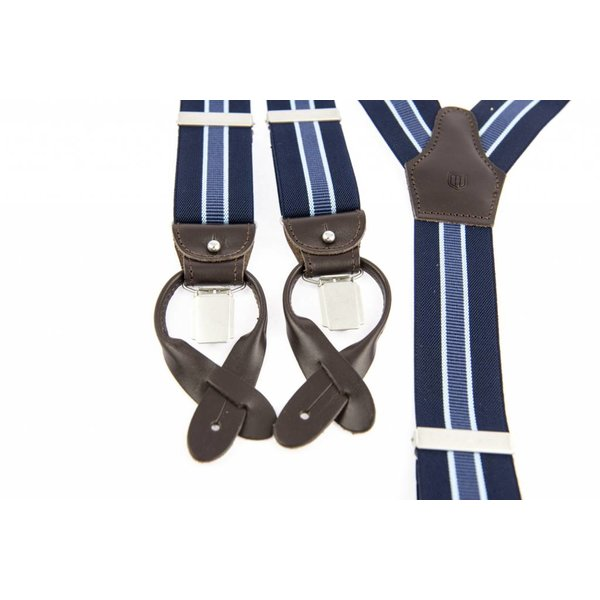 Luxe Blauw gestreepte Bretels