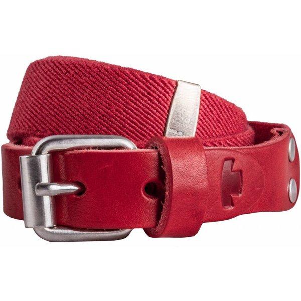 Rode elastische kinderriem met rolgesp
