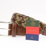 Leyva Gevlochten groen/bruine herenriem - Regimental Club