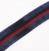 Leyva Elastische Blauwe Vintage herenriem - Regimental Club