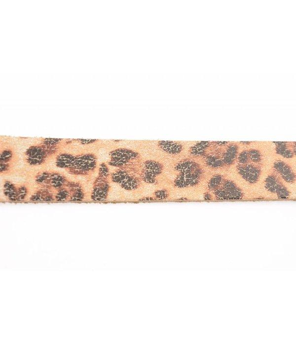 Take-It Stoere elegante smalle riem met panterprint