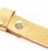 Take-It Stoere elegante smalle glimmend gouden riem
