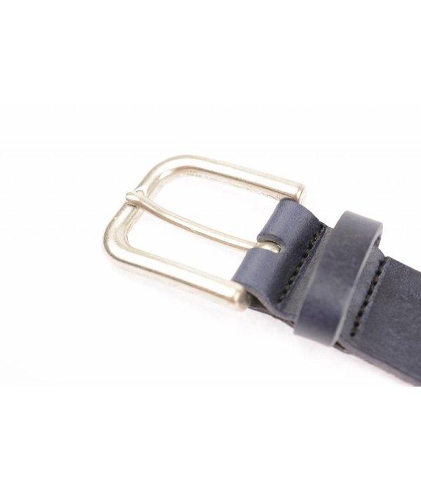 Take-It Stoere vintage donkerblauwe riem met elegant randje