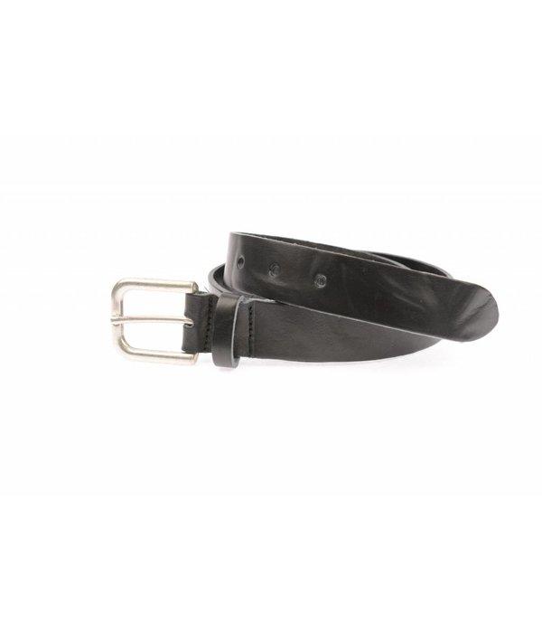 Take-It Stoere vintage zwarte riem met elegant randje
