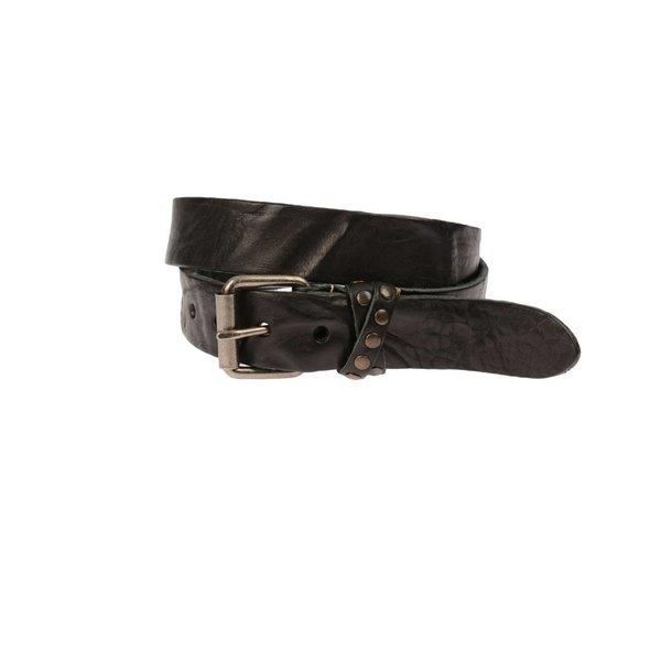 Vintage zwarte riem met gekruiste lus