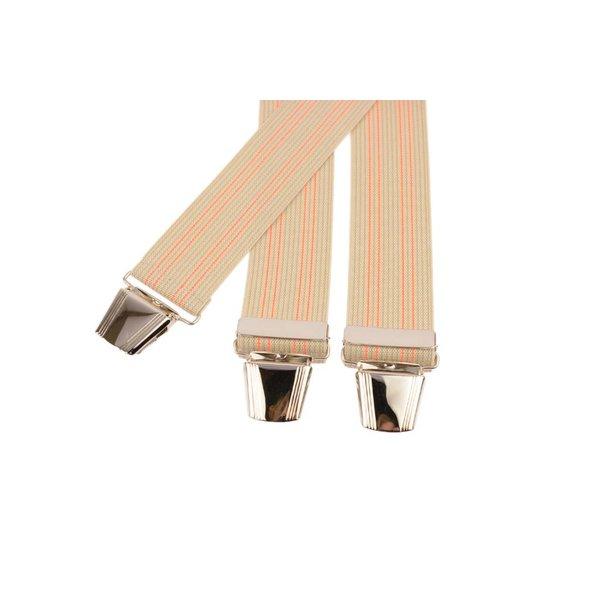 Beige bretels met roze lijnen
