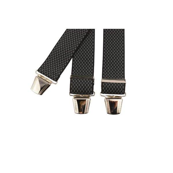 Zwart-grijs gemeleerde bretels