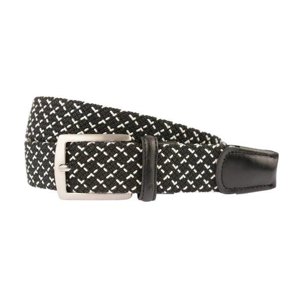Zwart-witte webbing elastische riem