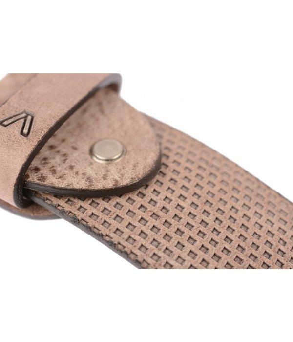 Alberto riemen Luxe riem met vakjes in bruine kleur