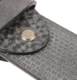 Alberto riemen Luxe riem met vakjes in grijze kleur