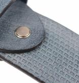 Alberto riemen Luxe riem met vakjes in royal blauwe kleur